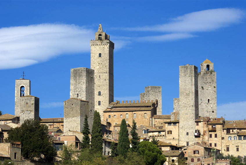 Visit to Volterra and San Gimignano